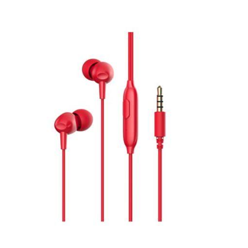 Auricular con Cable y Manos Libres E48P - Rojo