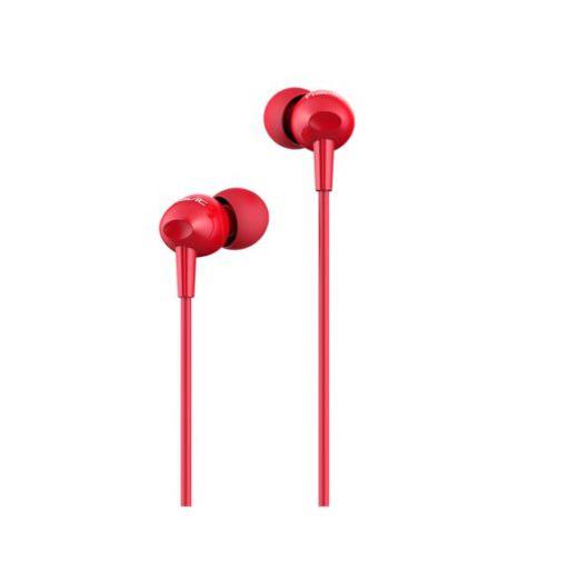 Auricular con Cable y Manos Libres E48P color Rojo