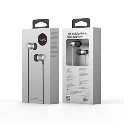 Auriculares de Aluminio con micro HV-E65P Plata